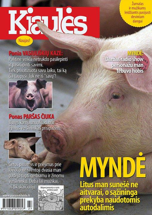Kiaulės užkariauja žiniasklaidą